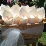 metallic wedding petal cone