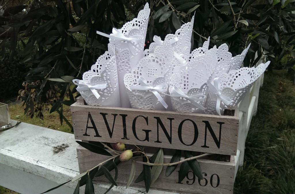 Paper Lace Petal Cone Church Confetti