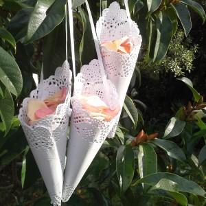 hanging petal cone