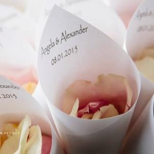 wedding petal cone
