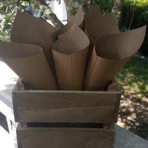 kraft brown petal cone